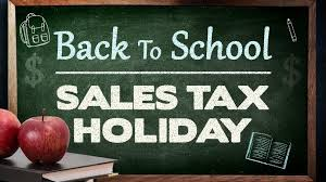 Back to school tax-free weekend runs Aug. 7-9